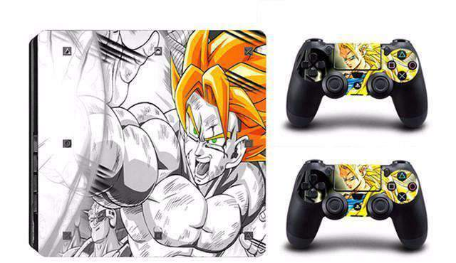 Stickers PS4 SLIM Dragon Ball Z 14 designs au choix