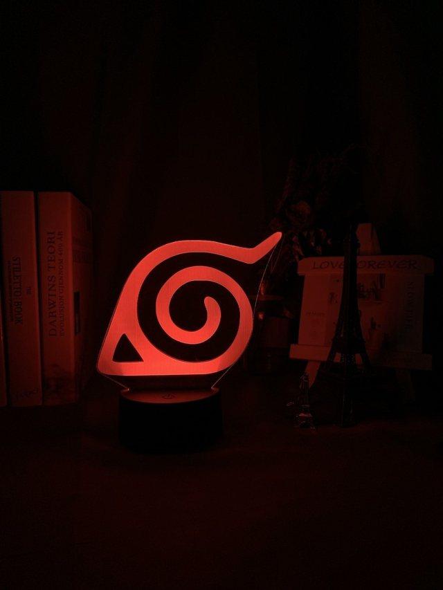 Lampe Led 3D Naruto Konoha