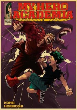Poster My Hero Academia Izuku Vs Muscular