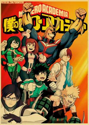 Poster My Hero Academia Team All Might