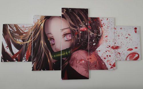 Décoration murale en 5 pièces Demon Slayer Kimetsu No Yaiba Nezuko Larmes de Sang photo review