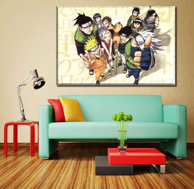 Décoration murale en 5 pièces Naruto Characters