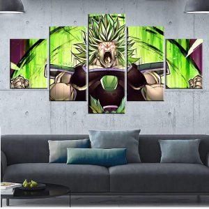 Décoration murale en 5 pièces Dragon Ball Super Broly Transformation