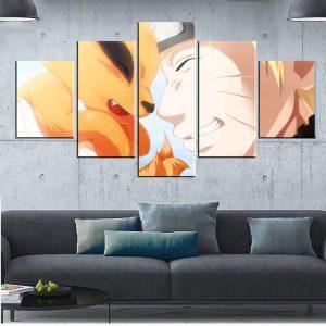 Décoration murale en 5 pièces Naruto X Bébé Kyubi