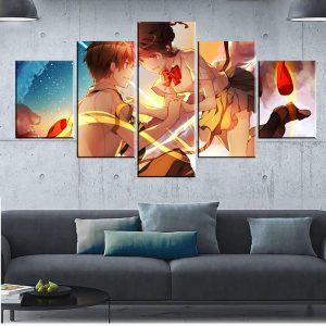 Décoration murale en 5 pièces Your Name Taki X Metsuha