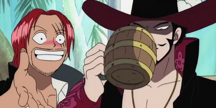 shanks vs mihawk