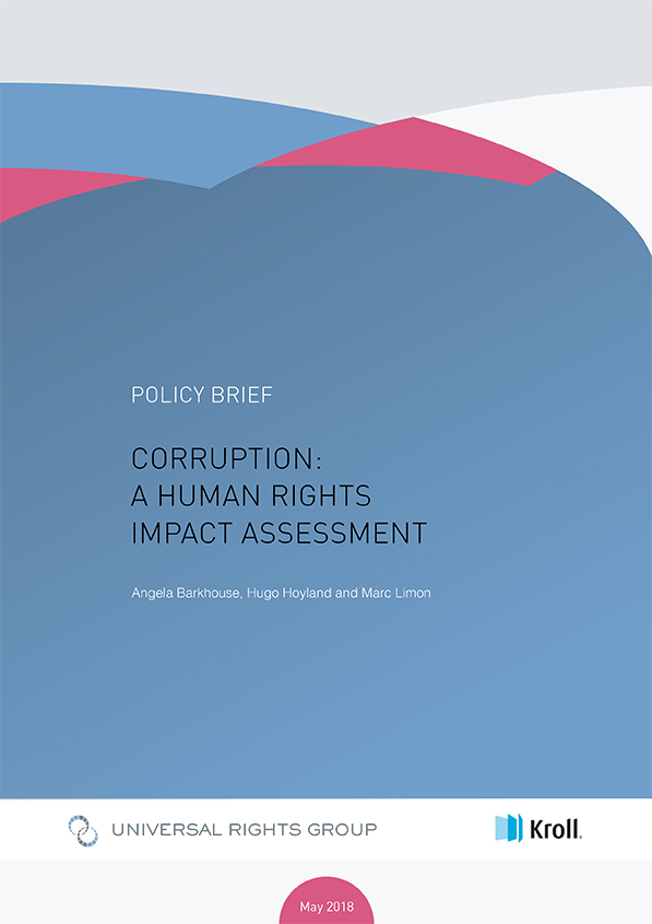 Corruption  a human rights impact assessment   Universal Rights Group Corruption  a human rights impact assessment