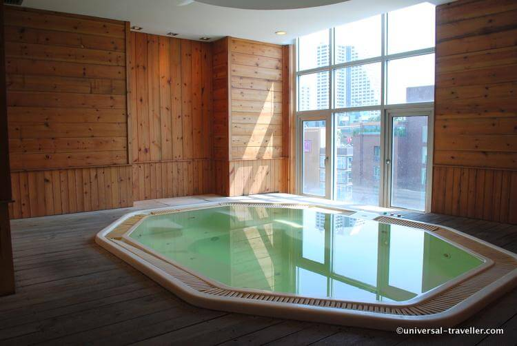The Jacuzzi - The perfect place to relax after a long day of sightseeing or shopping.