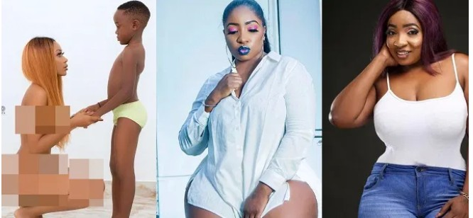 """Screenshot_20200701-102157 You need urgent mental evaluation"""" – Anita Joseph blasts Ghanaian actress, Akupem Poloo for going completely naked in front of her son"""