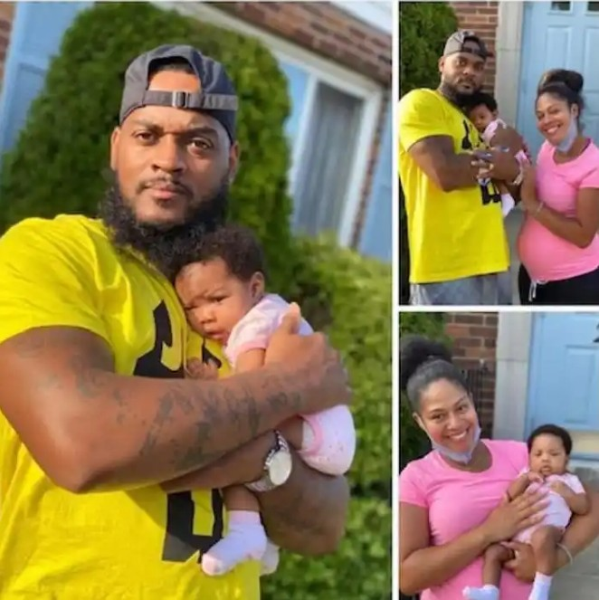 """Screenshot_20200718-225240 I'm grateful to have a forgiving wife by my side"""" – Man says as he shares photos of pregnant wife carrying his sidechick's baby"""