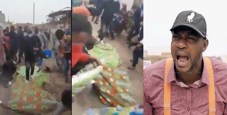 UCScreenshot20200919220148 Prophet steps out of his Benz as church members lay wrappers on the ground for him to walk on (Video)
