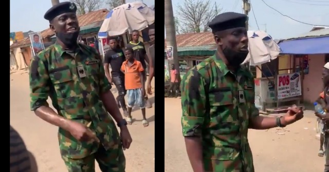 PicsArt_10-27-03.07.50 Trending video of a Nigerian soldier advising youths in Kubwa, Abuja against looting food items meant for NYSC Corp members