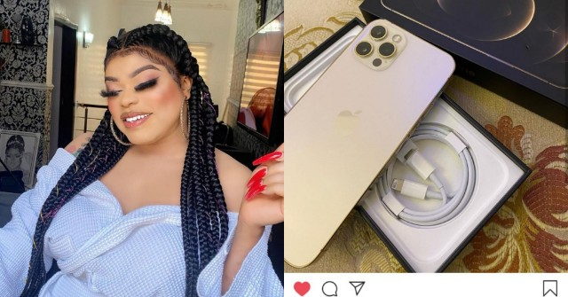 PicsArt_10-28-10.27.49 Bobrisky becomes the first male celebrity to get the new Iphone 12