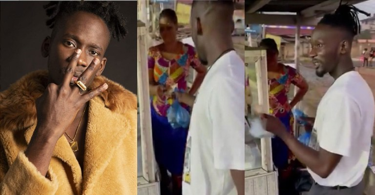 UCScreenshot20201223143052 Moment Mr Eazi Bless A Street Food Vendor With Cash Gifts For Christmas