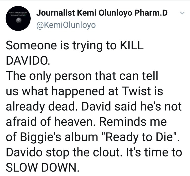 IMG_20201229_201332_338 How someone is allegedly plotting to kill Davido, following death of eye witness at Twist, Ghana