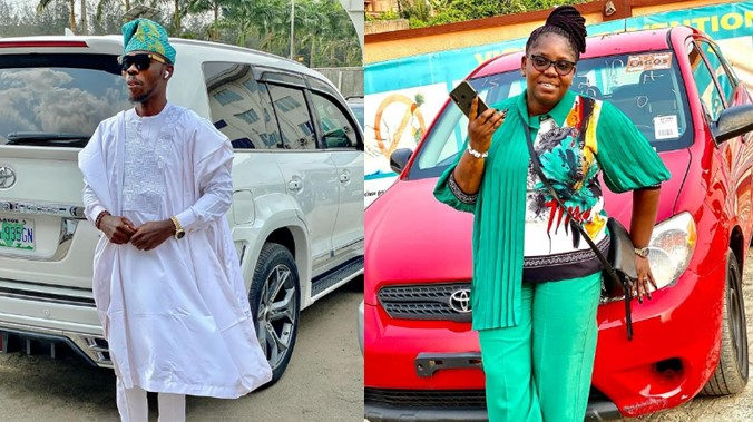 """ijebu-ft """"I don't have money for Benz now, please manage this"""" – Nollywood actor, Ijebu says as he buys Toyota Matrix for his wife"""