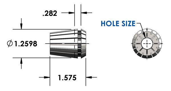 Universal Devlieg - ER Collets precision inch metric ...