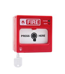 AW D105 call point (addressable fire alarm control system)