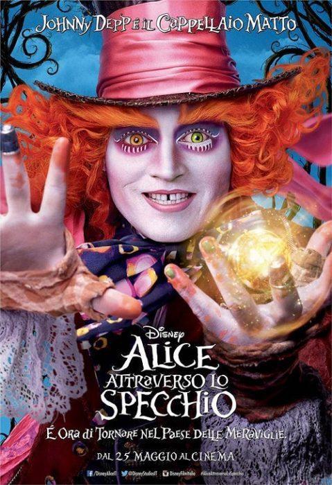 Johnny depp e gli altri protagonisti dei poster italiani - Alice attraverso lo specchio kickass ...