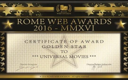 golden stars rome web awards