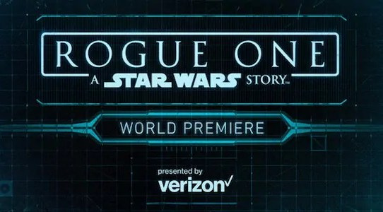 rogue one premiere streaming
