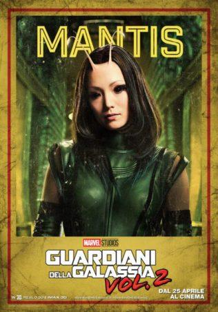 guardiani galassia 2 poster italiano mantis