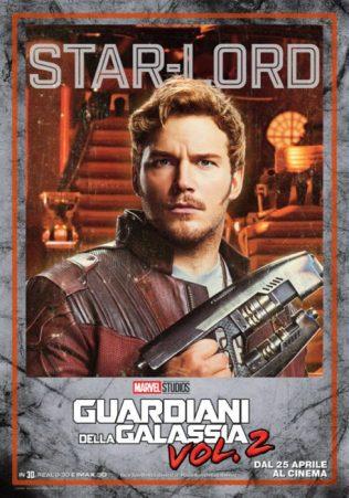 guardiani galassia 2 poster italiano star-lord