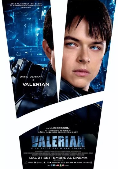 valerian sci-fi poster italiano dehaan
