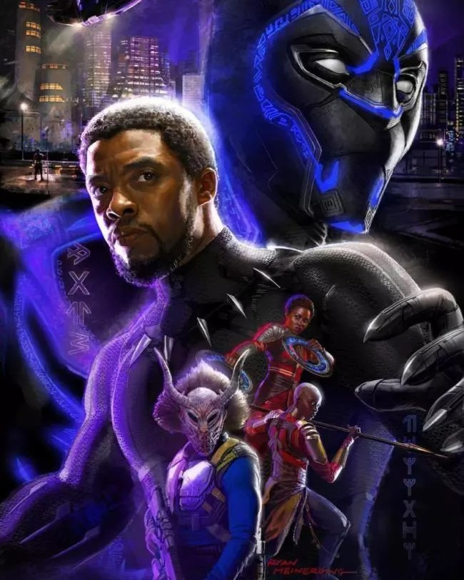 black panther artwork sdcc