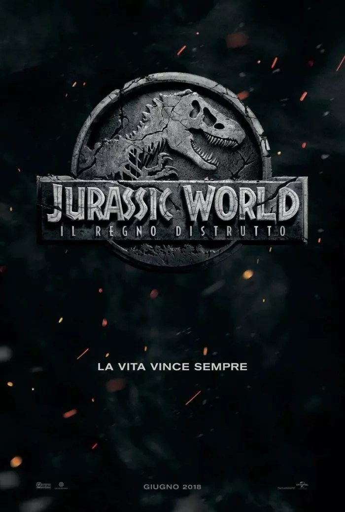 jurassic world 2 poster ita