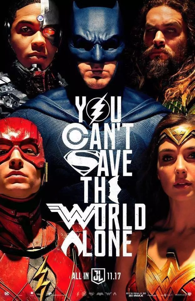justice league poster sdcc