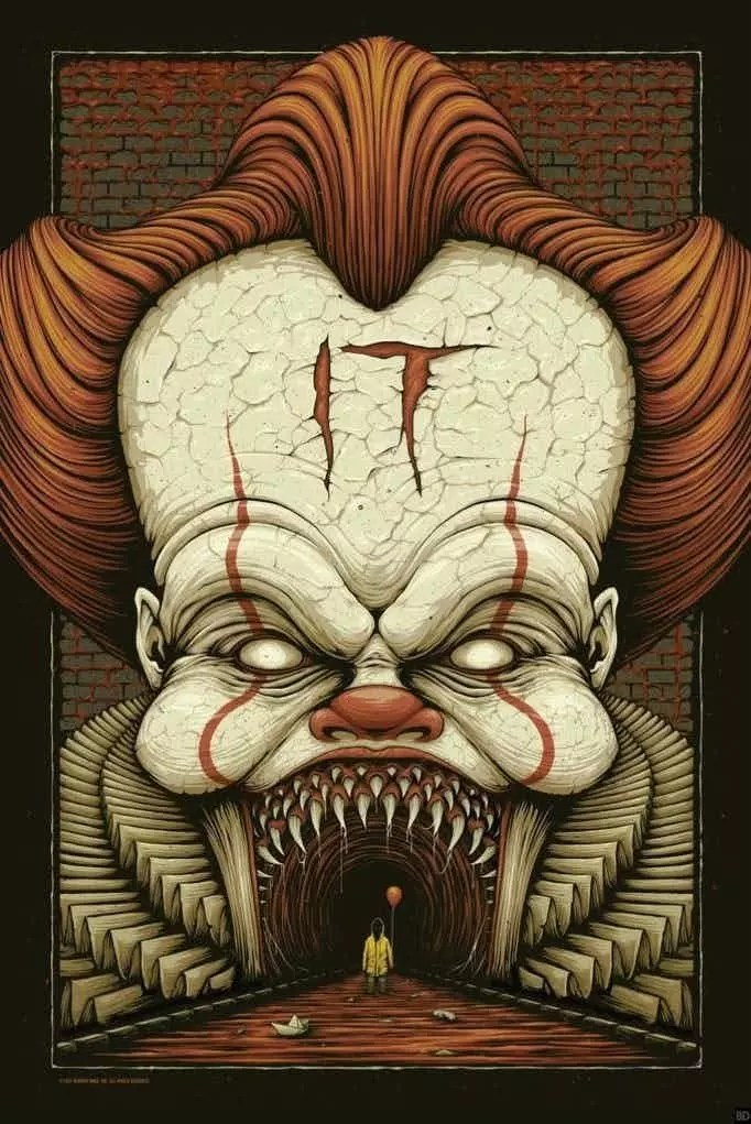 it horror poster pennywise