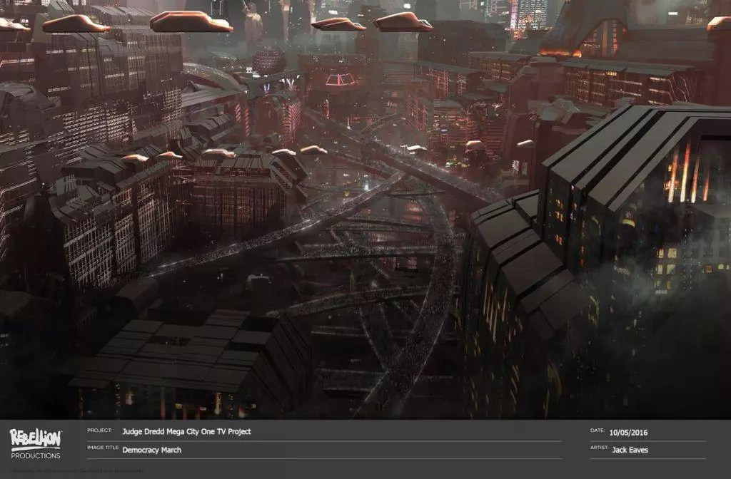 mega city one concept art
