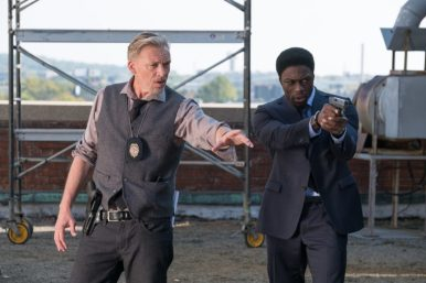 "Callum Keith Rennie as ""Halloran"" and Clé Bennett as ""Det. Keith"" in JIGSAW. Photo by Brooke Palmer."