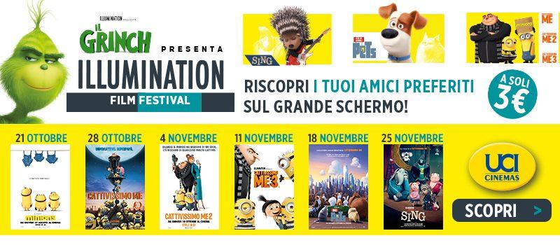 Dal 21 ottobre nelle sale UCI Cinemas parte l'Illumination Film Fest