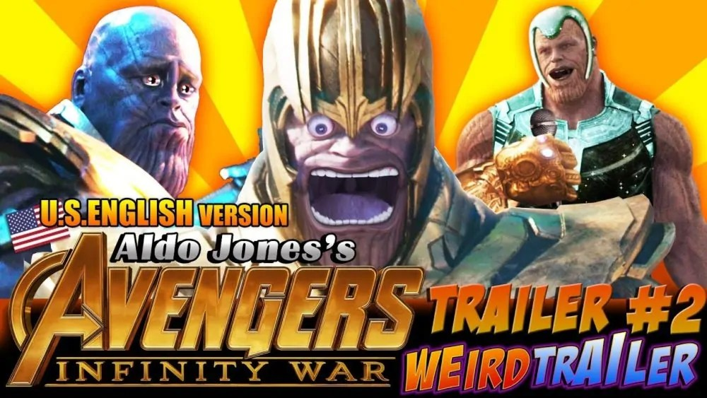 weird trailer avengers infinity war