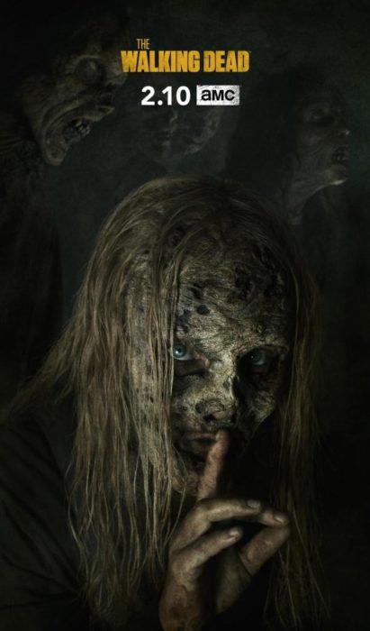 I temibili Sussurratori nei banner della seconda parte di The Walking Dead 9