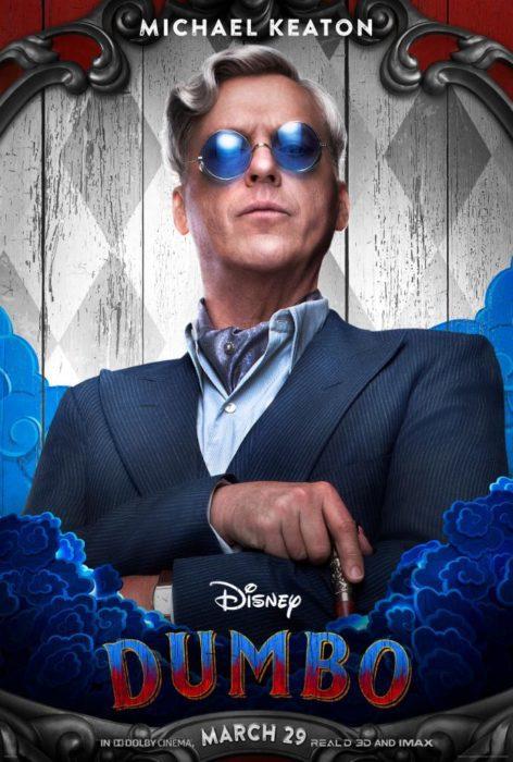 Colin Farrell, Michael Keaton e gli altri protagonisti nei poster di Dumbo