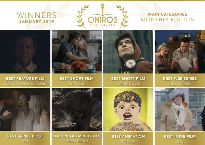 Oniros Film Awards - Ecco chi ha vinto il concorso Gennaio 2019