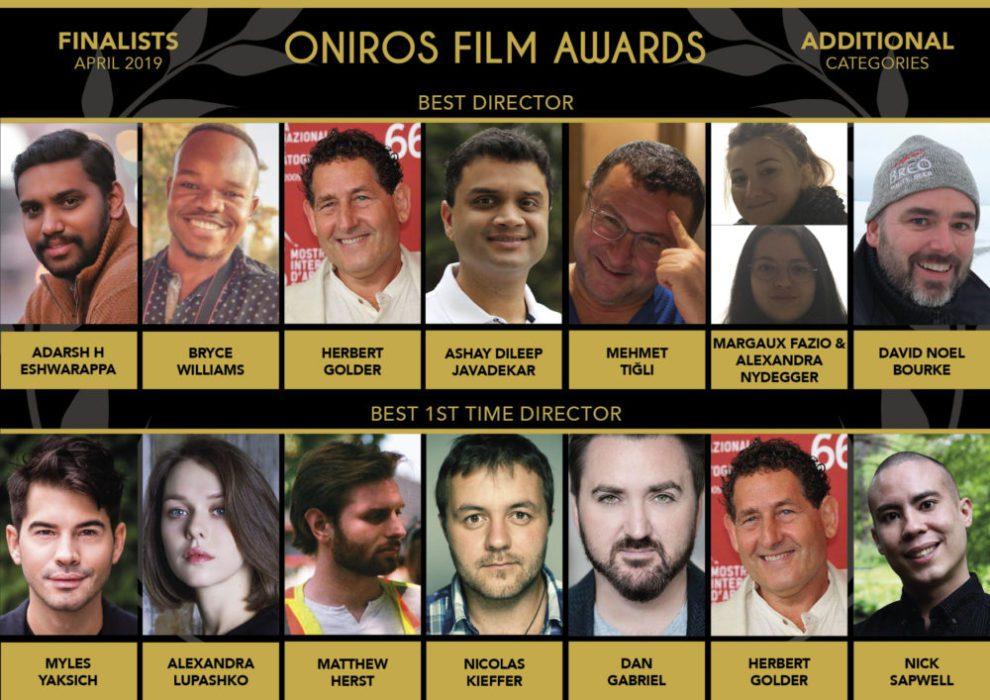 Oniros Film Awards - Svelati i nomi dei finalisti di Aprile 2019
