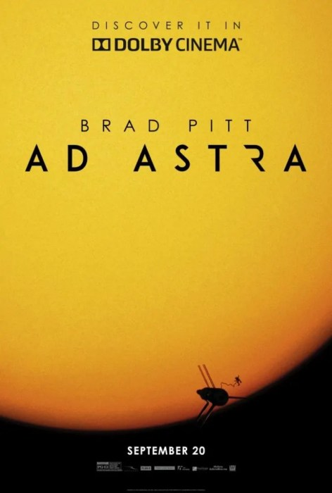 Ad Astra Film Poster Dolby