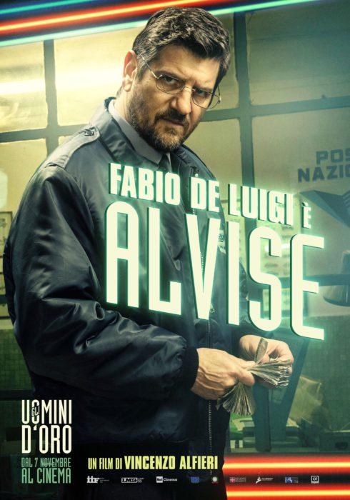 I characters poster di Gli uomini d'oro, il nuovo film di Vincenzo Alfieri