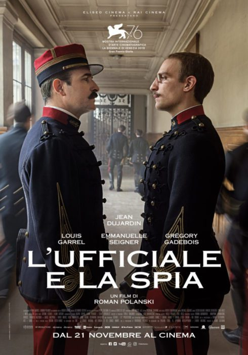 Il poster ufficiale di L'Ufficiale e la Spia, il film di Roman Polanski