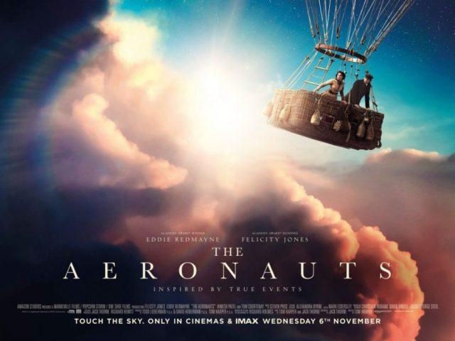 Tre quad poster da The Aeronauts, il film con Eddie Redmayne