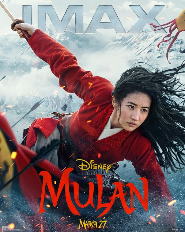 I poster Dolby, IMAX e RealD 3D per il fantasy Mulan