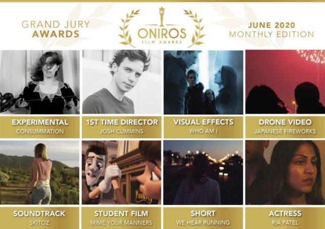 Oniros Film Awards: Scopriamo chi ha vinto il concorso Giugno 2020