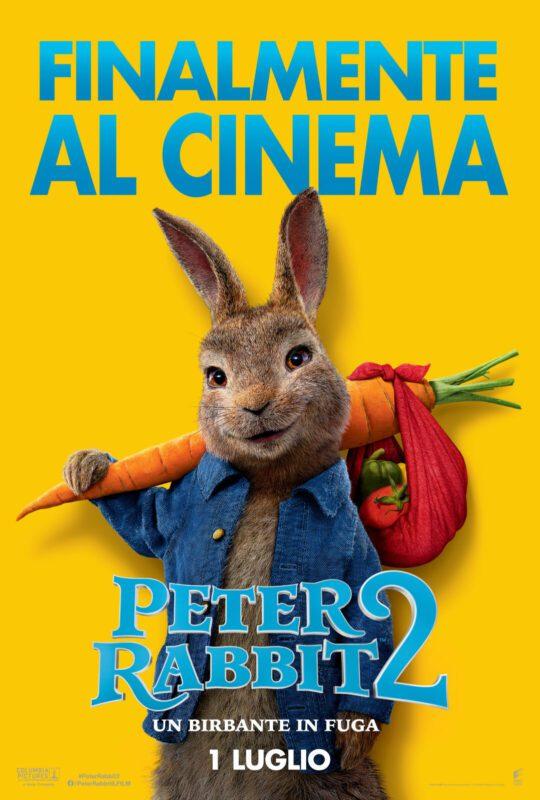 peter rabbit 2: un birbante in fuga poster italiano