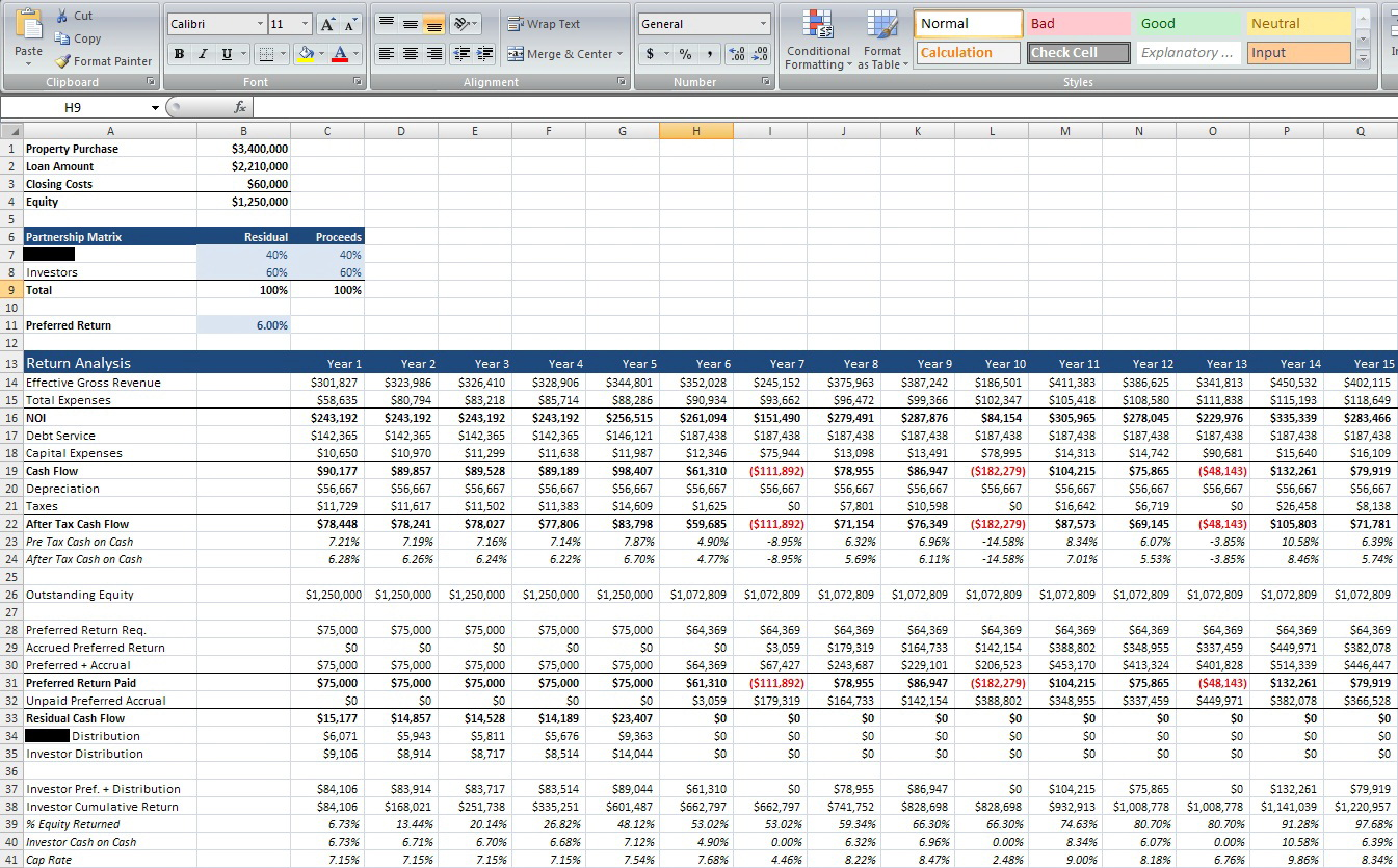 Divorce Property Division Worksheet Excel