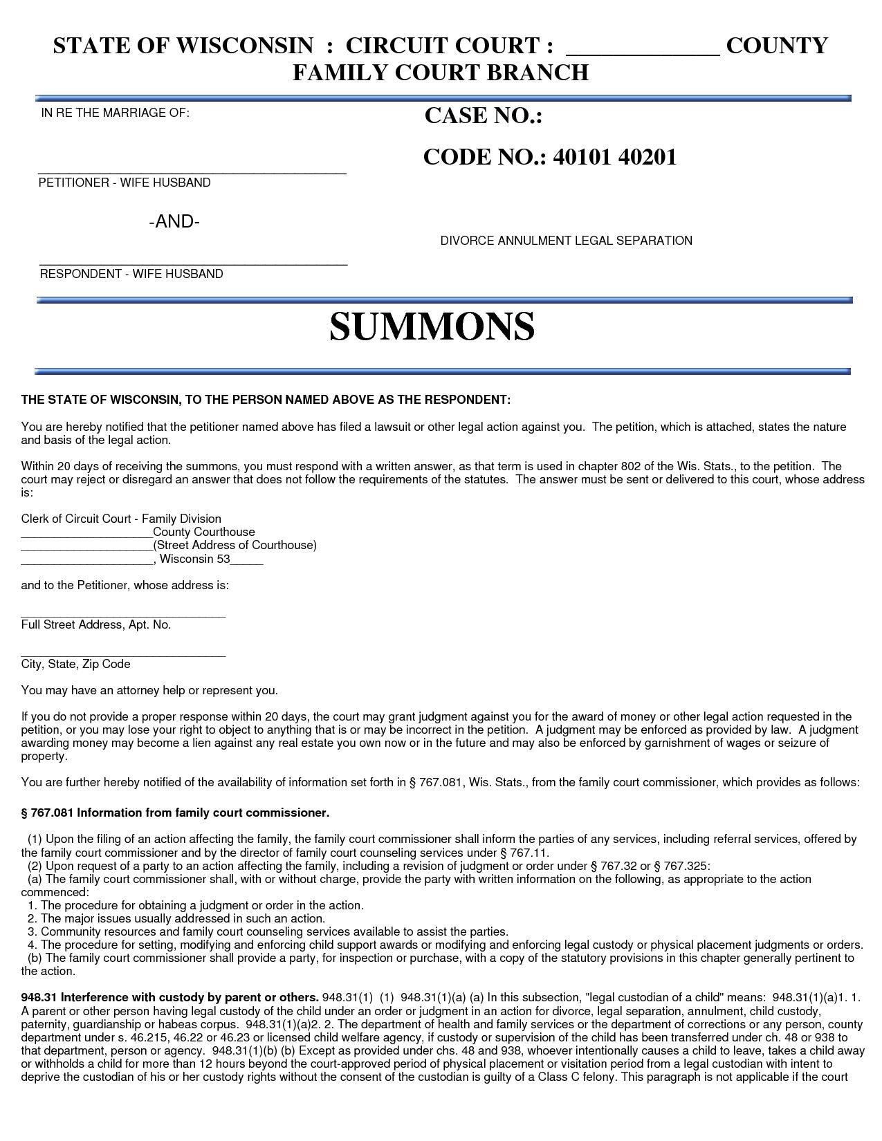 Printable Mississippi Divorce Forms