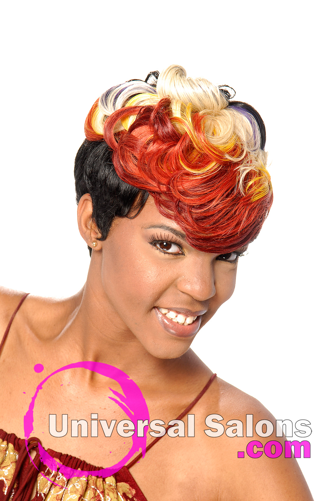 Rainbow Bright Quick Weave Hairstyle From Tiffany Hudson